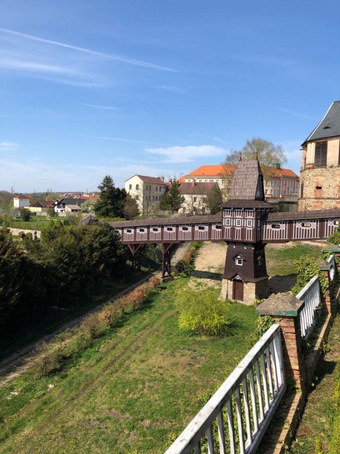 Dřevěný most zámku Nové Město nad Metují