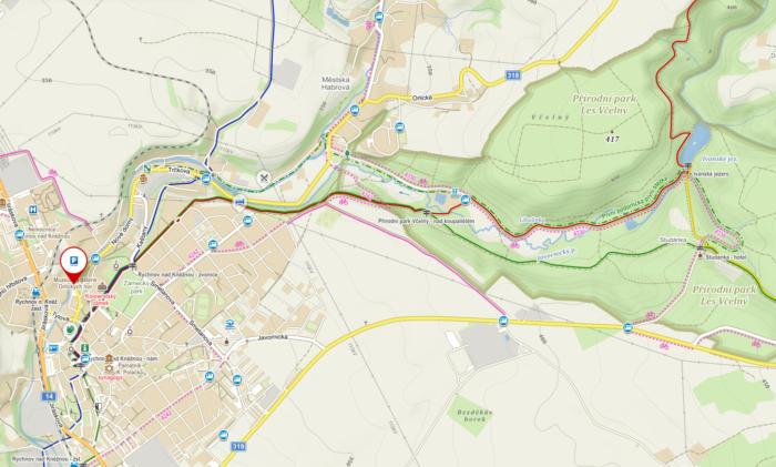 Trasa z Rychnova nad Kněžnou na Ivanské jezero