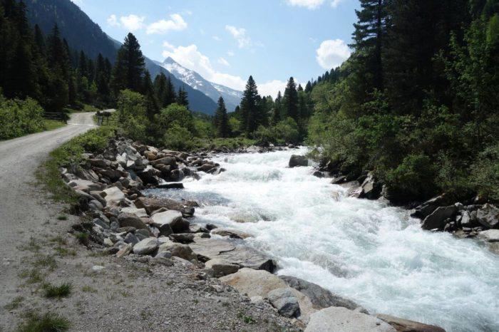 Krimmler Ache na Krimmelských vodopádech