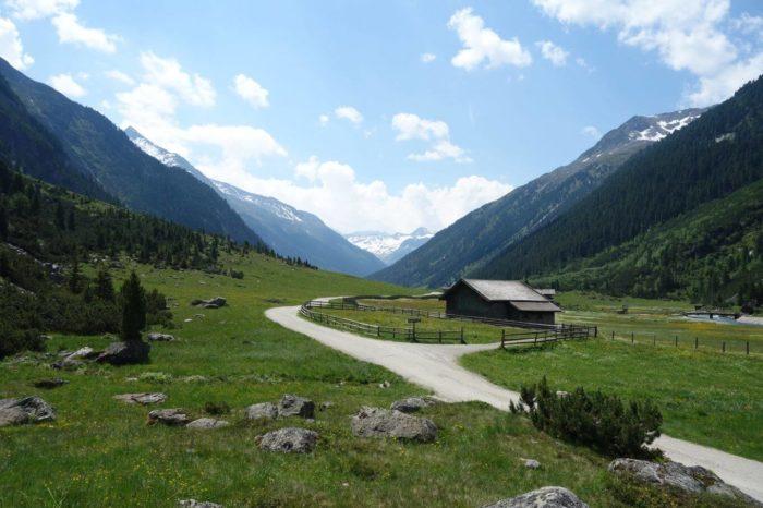 Údolí nad Krimmelskými vodopády - Oberkrimml