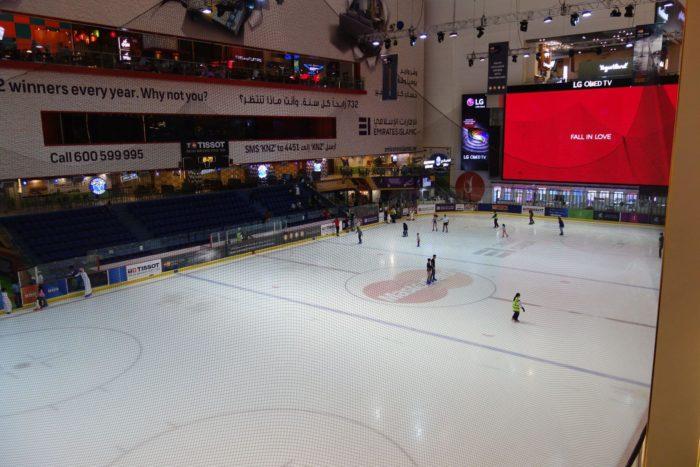 Kluziště v Dubai Mall - Ice Rink