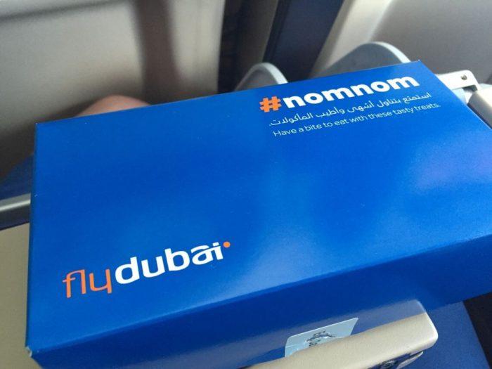 Flydubai - krabička s jídlem
