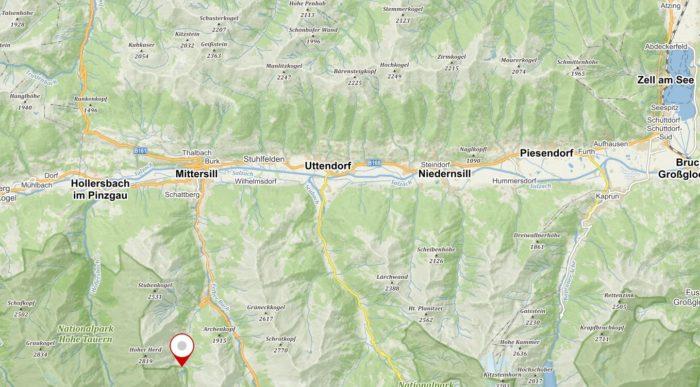 Jezero Hintersee u Mittsersillu na Mapy.cz;